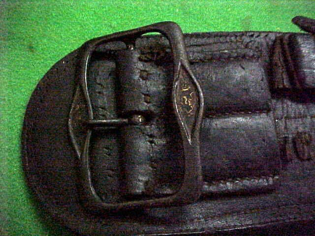 19th Century Genuine Leather Mexican Revolution Gun Belt