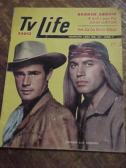 "1957 Original TV/Radio Life Magazine ""Broken Arrow"""