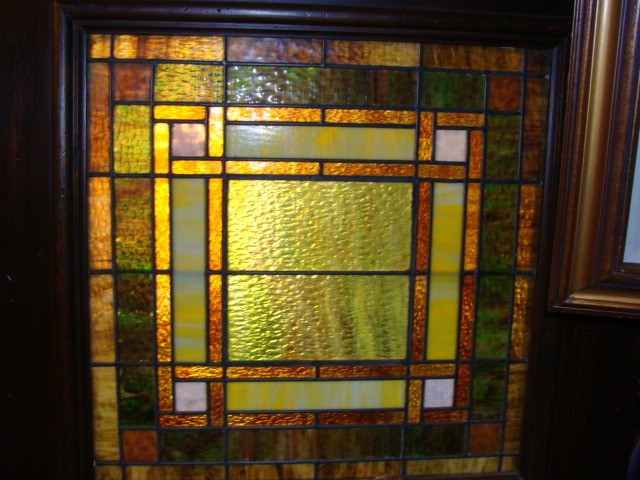 100 year old Stained Glass door - SOLD