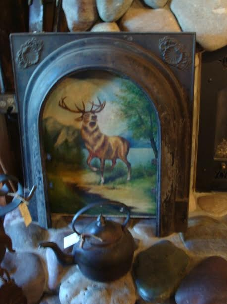 "1940's Oil Painting on Canvas - ""Montana Elk"""
