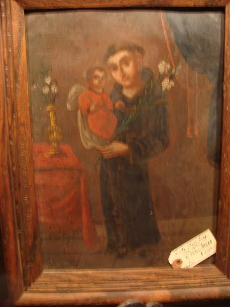 """Early 1800's Large """"Retable"""" Painting"""
