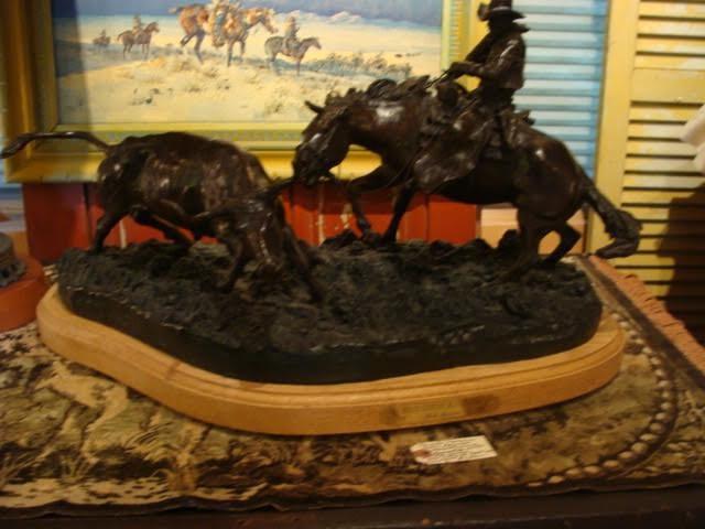 Bob Scriver Native American Bronze Statue