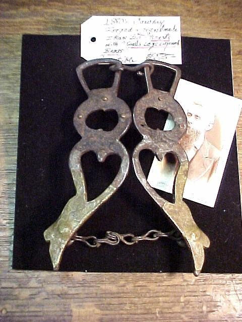 1870's Heart Shaped BIt with Engraved Brass forming Gals Legs