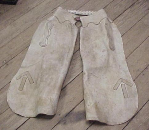 1930's Arrows Up Batwing Chaps  Elk Tanned