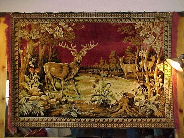 1930's-40's Elk Tapestry -
