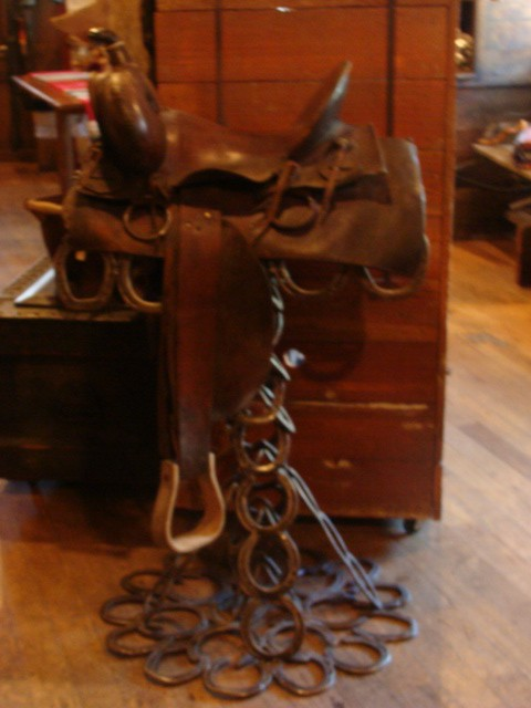 19th Century Saddle with High back and Square Skirt (No Markings)