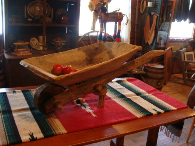 120 Year old Wood Wheel Barrel Decor SOLD