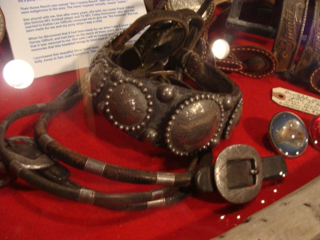 1930's Silver Engraved Conchoe's handmade Pony Headstall