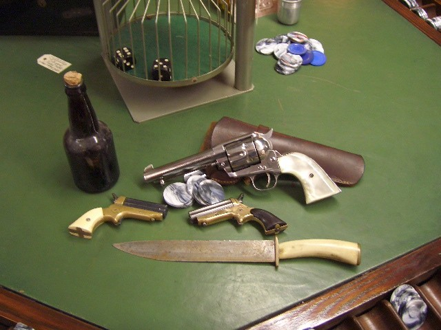 1880 Colts S.A. .40-.44 Caliber Frontier Six Shooter Gambler Gun with Pearl Grip / Nickel