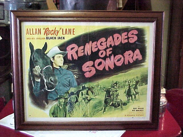 Original Poster of Allen Rocky Lane Renagades of Sonora