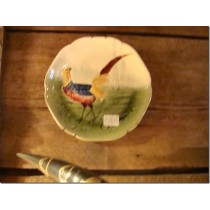 Hand painted plate with a Pheasant.