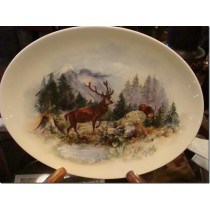 Hand painted Plate of an Elk
