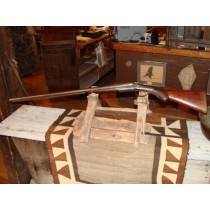 19th Century G.E. Lewis Double Barrel 12 Gauge Shotgun with Hammers