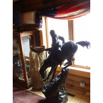 "5' ft. Remington Bronze ""The Mountain Man"""