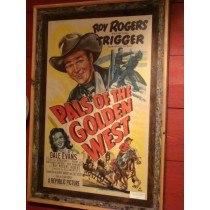 "Movie Poster of Roy Rogers in ""Pals of the Golden West"""