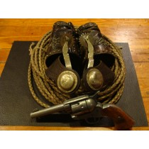 "19th Century Silver engraved Spurs ""Gals Legs""  with original leather straps  SOLD"