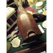 1900's Leather Dice Cup Bottle Cover  SOLD