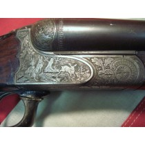19th Century Silver Engraved J.P. Sours 12 Gauge Shotgun