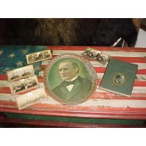 Antique President McKinley Tray & Sterio-cards
