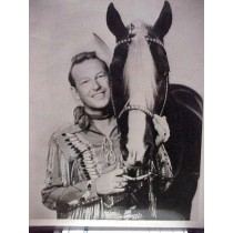 8x10 Black & White Photo of Rex Allen The AZ Cowboy with his horse Koko