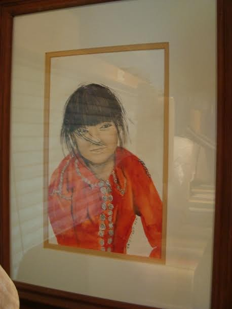"""Water Color Painting - """"The Navajo Child"""""""