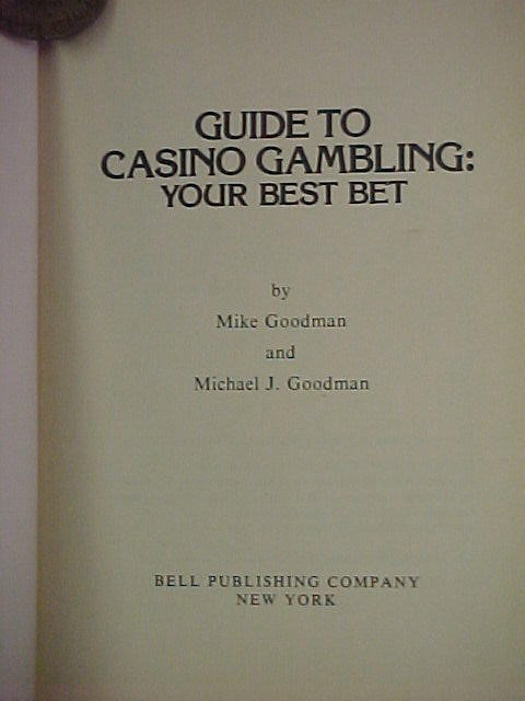 1945 Copyrighted Guide To Casino Gambling Book