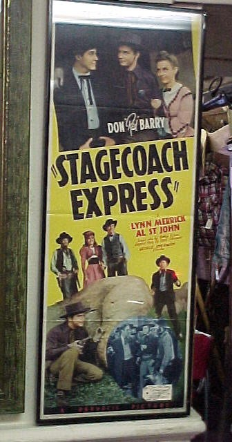 """1950 Original Poster of the """"Stagecoach Express"""""""