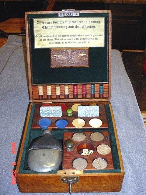 19th Century Gambler's Traveling Gambler's Box