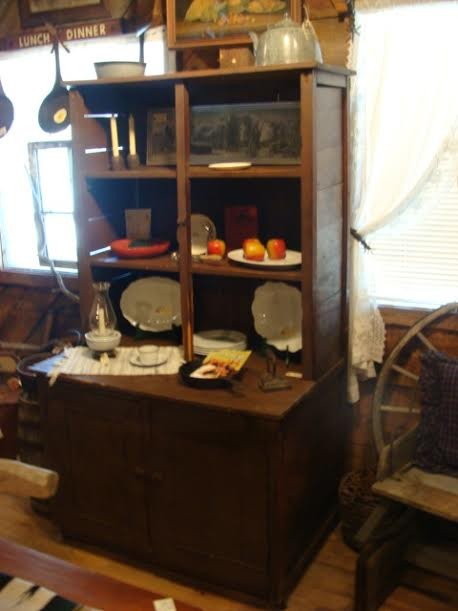 Genuine Montana General Store 19th Century Display Cupboard with Shelves