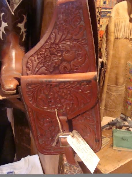 Hand Carved Leather Saddlebags