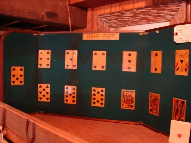 19th Century Genuine Old West Gambling Faro Board Ace of Spade High