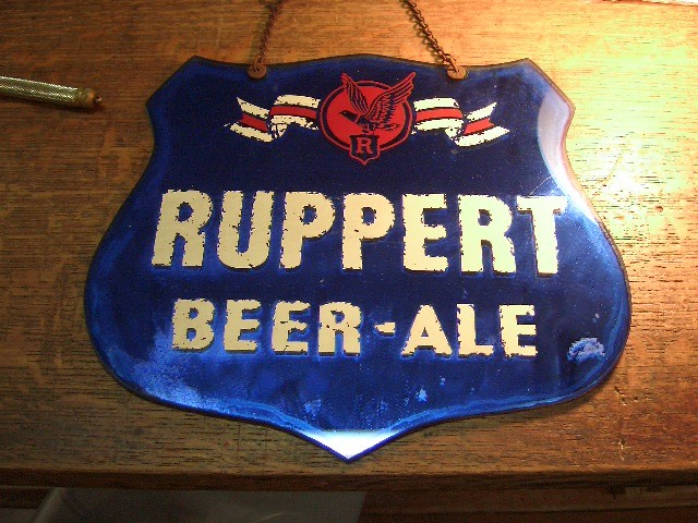 1900's Ruppert Beer-Ale Sign/Mirror   SOLD