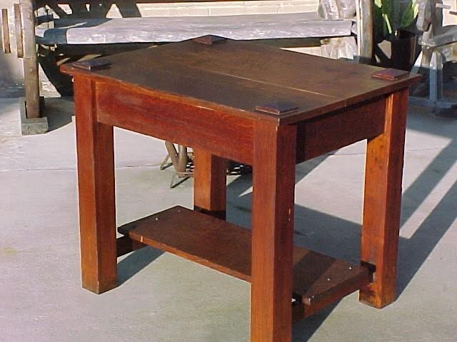 Solid Oak Library Arts and Crafts Table