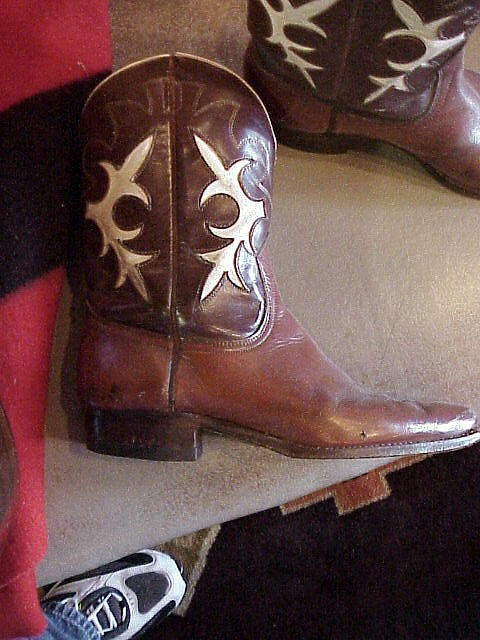 1920's-30's Vintage Inlaid Cowboy Boots