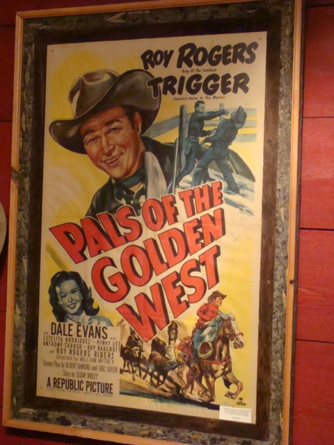 """Movie Poster of Roy Rogers in """"Pals of the Golden West"""""""