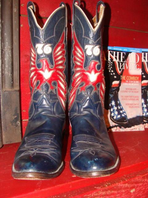 1976 Tony Lama Bicentennial Eagles Cowboy Boots