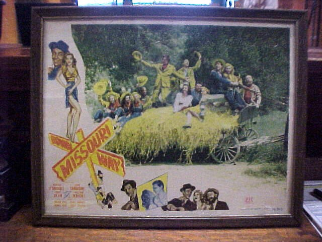 "Original Lobby Card Eddie Dean ""Down Missouri Way"""