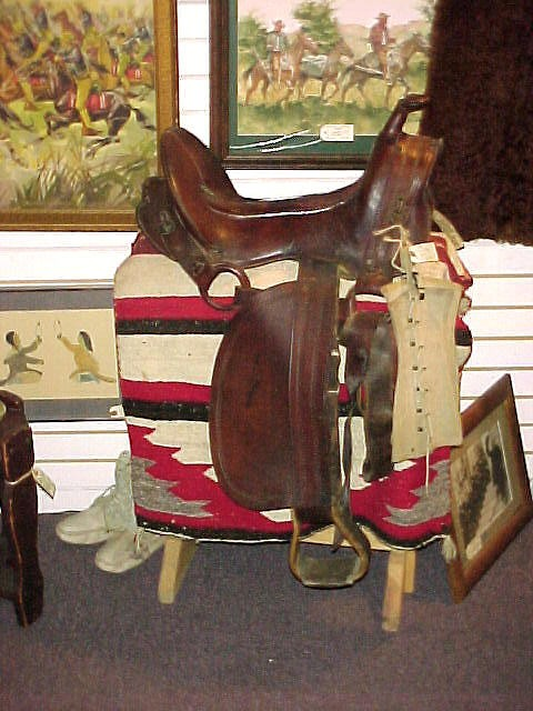Quarter Master's Mule Saddle with horn from the Indian War period