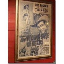"Movie Poster of Roy Rogers in ""The Yellow Rose of Texas"""