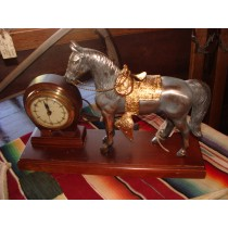 1940's Electric Stallion Horse Clock  SOLD