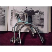 1950's Stainless Steel Crockett Rodeo Spurs