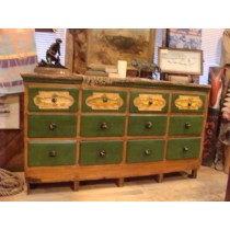 19th Century Antique Fly Fishing 12 Drawer Cabinet
