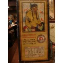 1930 Glacier National Park Calendar