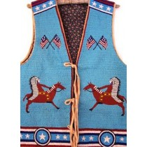 1920's Pineridge Reservation Pictorial Beaded Vest