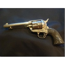 1892 Colt Single Action Army .45 cal Revolver Nickeled with Wells Fargo Markings / Colt Logo